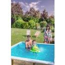 """""""Kids Pool"""" aus Massivholz 2 x 2 m, 0,7 m tief, mit Sicherheitsabdeckung und Kompaktfilter"""