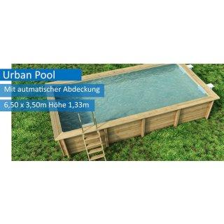 """Urban Pool """"XL"""" 6,50 x 3,50 m, Höhe 133 m, mit automatischer Abdeckung + Sandfilter"""