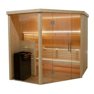 Harvia Variant View Sauna, Modell Large Corner