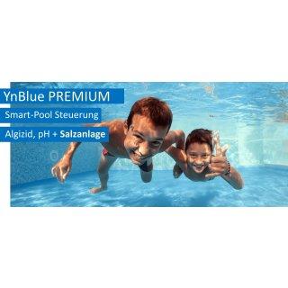 Smart-Pool-Anlage - YnBlue PREMIUM - Salzanlage,  pH-Dosierung, Flockung, mit App