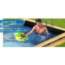 Holzpool Pooln Box Junior, 3,70 m x 2,40 m x 0,76 m, mit Kartuschenfilteranlage + Aufbewahrungsbox