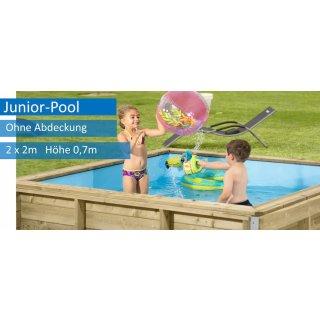 Junior Pool aus Massivholz 2 x 2 m, 0,7 m tief