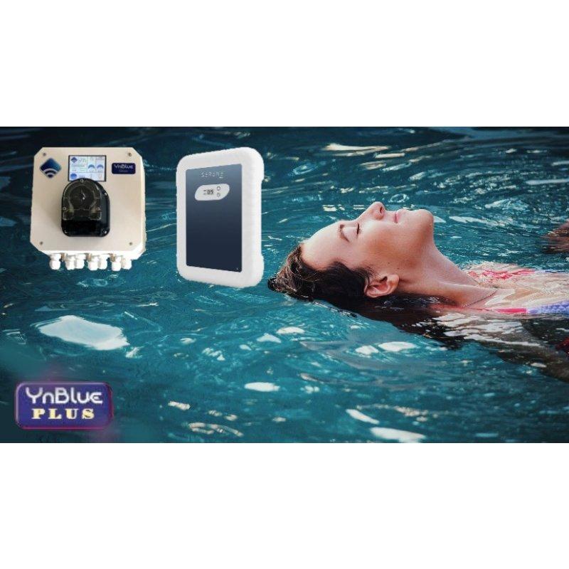 YnBlue Plus - Salzanlage + Dosieranlage pH, mit APP Steuerung, für Pools bis 20m³ Volumen