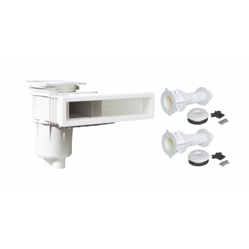 High Level Skimmer +  Premium Einbauteile ( Farbe Weiß)
